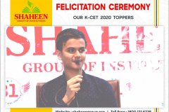 Felicitation Ceremony of K-CET 2020 Toppers